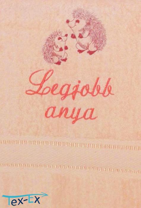 0124099a85 Legjobb anya + sünik, barack | Hímzett Textil Expressz